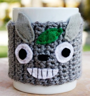 totoro -ish coffee mug tea cup cozy japanese -ish cartoon crochet knit sleeve-f95737.jpg